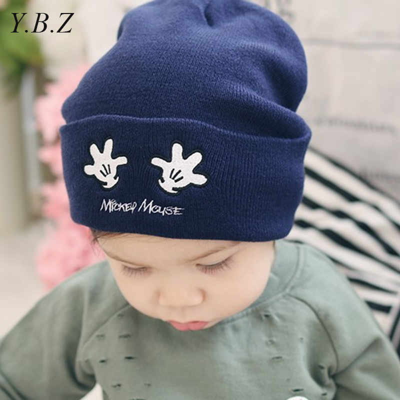 New! Baby Kids Autumn Winter Warm Cotton Beanie Hat Toddler Girls Boys Caps Cute Baby Cartoon bear ear Beanies 1pc F011 newborn kids skullies caps children baby boys girls soft toddler cute cap new sale