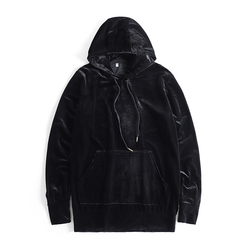 2018 New Arrived Kanye West Streetwear Solid Color100% Velvet Hoodies Men Pullovers Hip Hop Long sweatshirts Youth Popular S-XL 3
