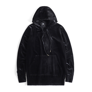 Image 3 - זר דברים Mens קטיפה סלעית נים Kanye West Streetwear Velour נים גברים סוודרי היפ הופ חולצות שחור/אדום/אפור