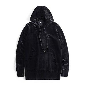 Image 3 - Stranger Things felpe con cappuccio da uomo in velluto Kanye West Streetwear felpe con cappuccio in velluto pullover da uomo felpe Hip Hop nero/rosso/grigio