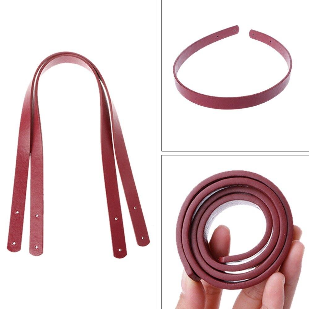 THINKTHENDO New  Durable Faux Leather Shoulder Bags Detachable Belt Handle DIY Replacement Handbag Strap
