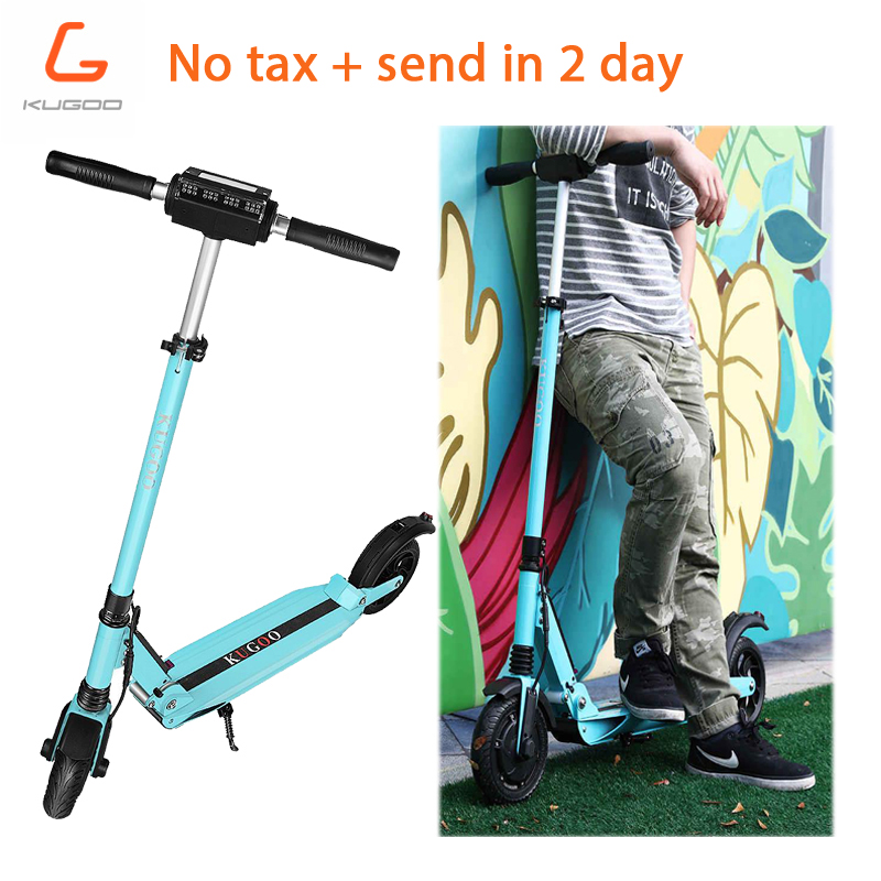 Tax free in stock 3 color KUGOO S1 patinete electrico adulto scooter plegable 350W Motor Folding