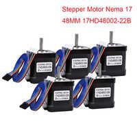 4/5 шт 4-свинцовый Nema17 шаговый двигатель 48 мм Nema 17 шаговый двигатель 42 Мотор 1.7A (17HD48002) CNC XYZ 3D Pinter мотор 42BYGH лазер