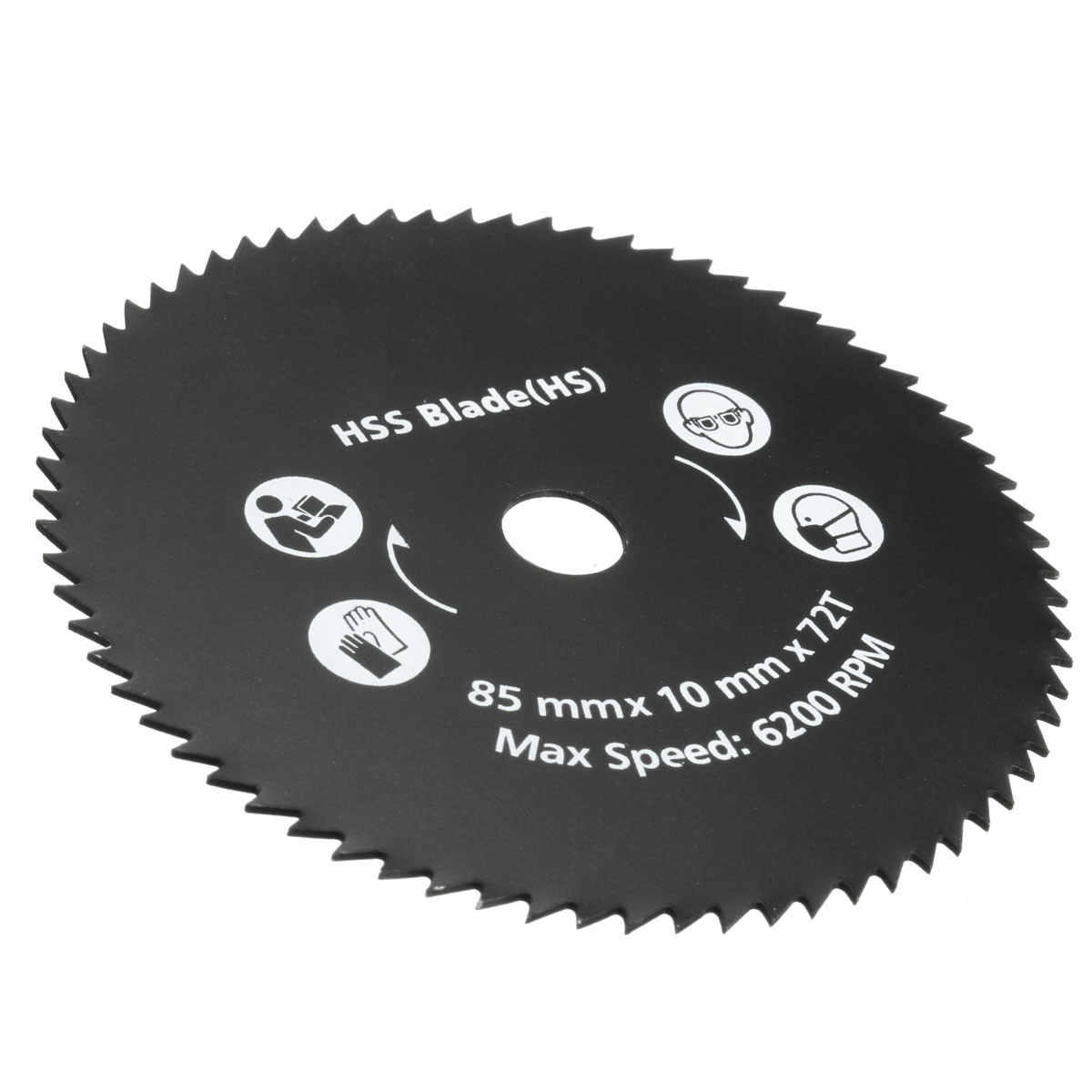 Dropshipping 1PC 85mm 72T HSS Circular Saw Blade Cutting Disc Wheel For Worx WorxSaw Wood Metal Working Tools Saw Blade