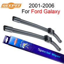 """QEEPEI Wiper Blade For Ford Galaxy 2001-2006 28""""+28""""R High Quality Iso9001 Natural Rubber Clean Front Windshield CPA1"""