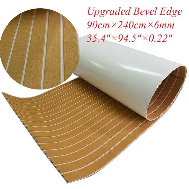 Bevel Edge EVA Teak Decking Carptet Sheet Yacht Marine Anti Slip Mat Luxury Yellow