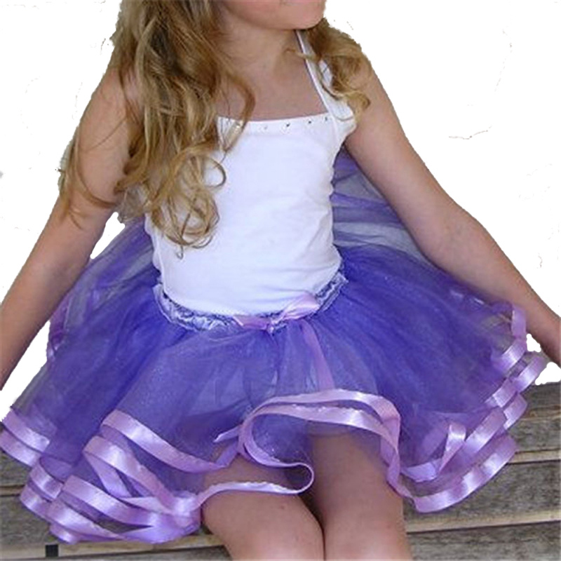 Girl Kid Colorful Skirt Sweet Rainbow  Toddler TUTU Mesh Dance Party Pettiskirt