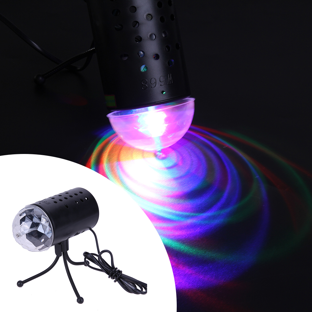 New RGB 3W Colorful Stage Light  Crystal Magic Ball Laser Stage Lighting For Party Disco DJ Bar Bulb Lighting Show Home Decor novelty glass magic plasma ball light 3