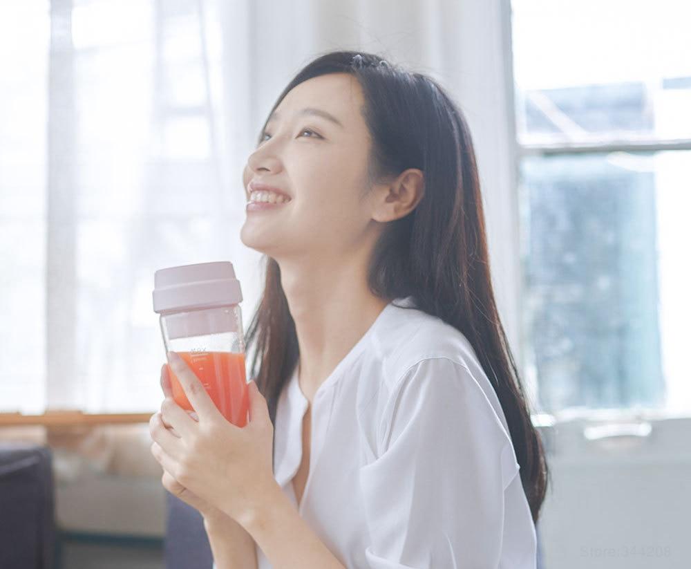 HTB1jvoTLNnaK1RjSZFBq6AW7VXak Xiaomi 17PIN Star Fruit Cup mini Portable blender Juicer mixer food processor 400ML Magnetic charging 30 Seconds Of Quick Juice