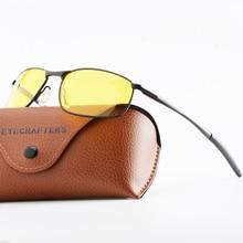 New Men's Polarized Sunglasses Metal Frame Night Vision Car Driving Sun Glasses