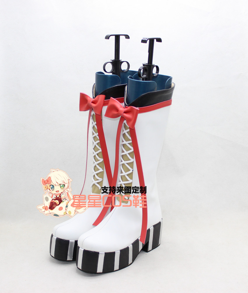 Seraph of the End Krul Tepes Girls White Halloween Cosplay Shoes Boots X002