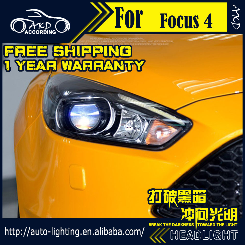 Akd car styling headlight assembly for ford focus 4 headlight 2016 st design led drl h7