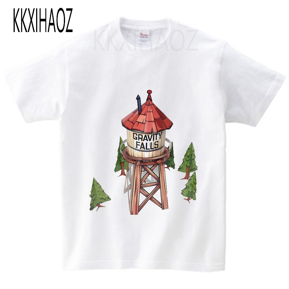 2019 Boys and Girls Gravity Falls Cartoon Mabel Dipper Pine Print T shirt Kids Funny Clothes Enfant Short Sleeve T shirt NN in T Shirts from Mother Kids