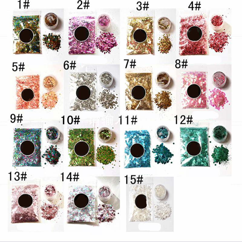 14 Styles eye glitter Eyeshadow makeup Shimmer Beauty cosmetic make up glitter Mermaid festival art Pigment maquiagem maquillaje