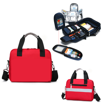 Empty Protable Emergency Kit Home First Aid Bag Family Medical Insulation Refrigerated Bag