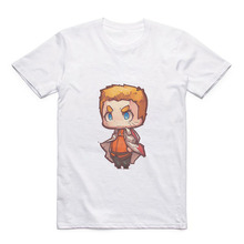 2019 Japanese Anime Naruto/Sasuke/Eren/Mikasa Cartoon Pattern Modal Summer Short Sleeve Mens T-Shirt