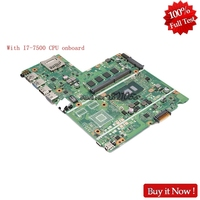 Nokotion X541UV MAIN board for ASUS X541UVK X541UA laptop motherboard with I7 7500 CPU onboard Tested