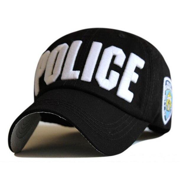 a4fc047543bca Gorra de policía de alta calidad unisex sombrero gorra de béisbol hombres  SnapBack gorras Baloncesto ajustable