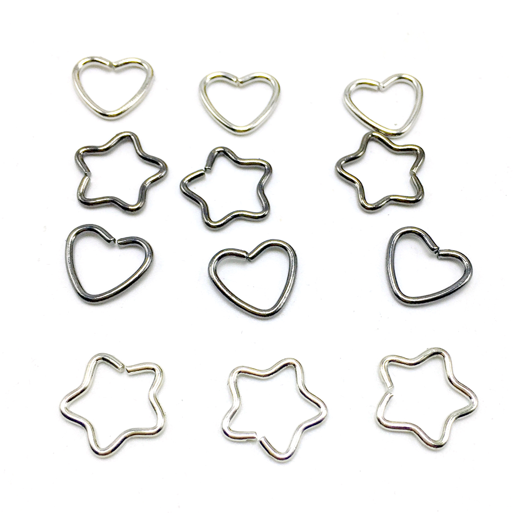 New Women  Style Heart Star Shaped Clip Earrings Golden Silver Ear Cuff Fashion Wrap Earrings(China)