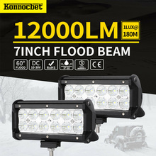 36W 7 inch LED Work Light Bar Flood Spot Fog Driving Lamp Offroad 4wd For Ford Jeep Waterproof 4x4 OffRoad