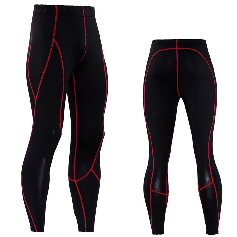 Men Compression Pants Solid Spliced Skinny Leggings
