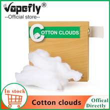 100% Organic Vapefly cotton clouds DIY Vape accessories for E cigarette RDA RTA Tank cotton vs firebolt cotton for galaxies RDTA