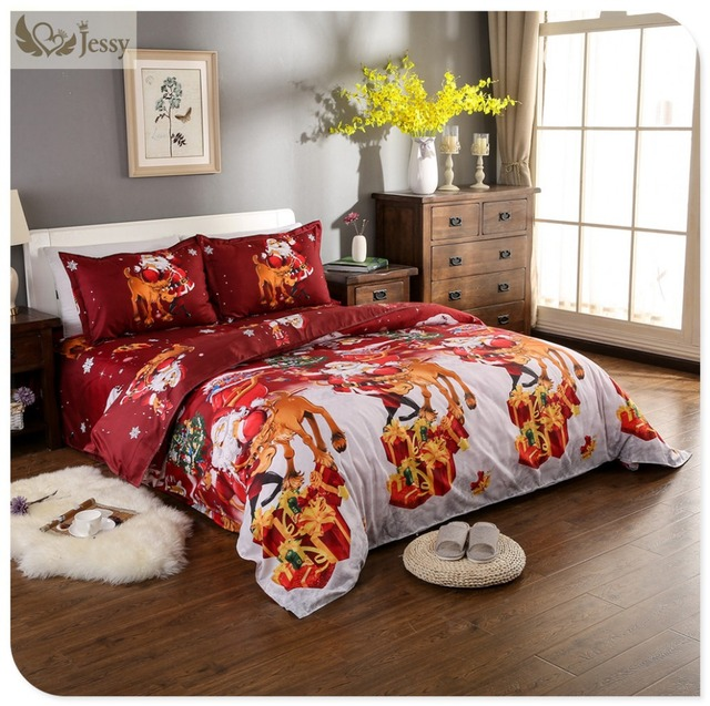 christmas bedding sets for adult bed linen with duvet cover bed sheets kids christmas gift bedding