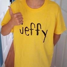 e0cf48314ec9 hahayule 1pcs 2018 100% Cotton Casual Tshirt Jeffy SML Yellow T-Shirt Funny