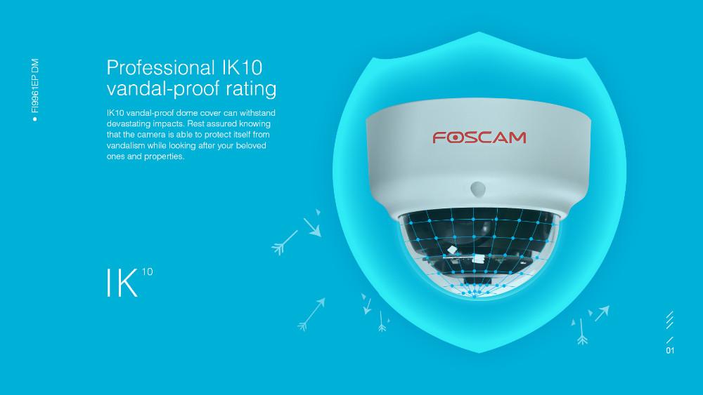 Foscam FI9961EP Vandal Proof Outdoor Full HD 1080P Security POE IP Dome  Camera 2 0 Megapixel IP66 Weatherproof 20m Night Vision-in Surveillance
