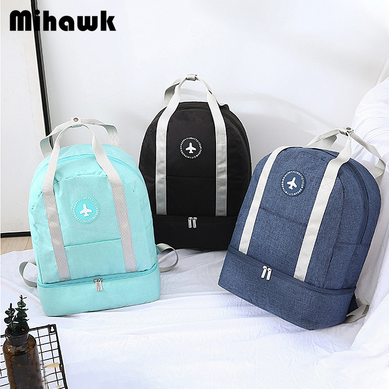 Mihawk Waterproof Travel Bags Portable Double Layer Design Duffel Luggage Shoes Bags Bra Underwear Storage Zipper Pouch Supplies