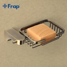 Frapสไตล์R Etroบรอนซ์อุปกรณ์ห้องน้ำตะกร้าโลหะจานสบู่ที่วางสบู่สบู่กรณีตกแต่งบ้านF1402 1