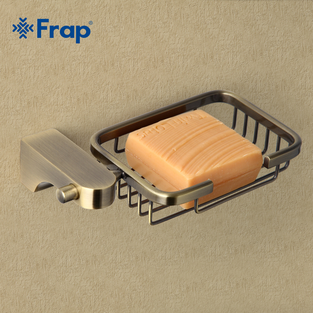 Frap estilo retro bronze acessórios do banheiro metal cesta saboneteira pratos saboneteira caso de sabão decoração para casa F1402 1