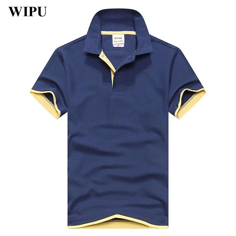 WIPU 2018 New Fashion Camisetas Short Sleeve Polo Masculinas Turn Down Collar Summer Casual Men's Polo Shirt 15 Colors
