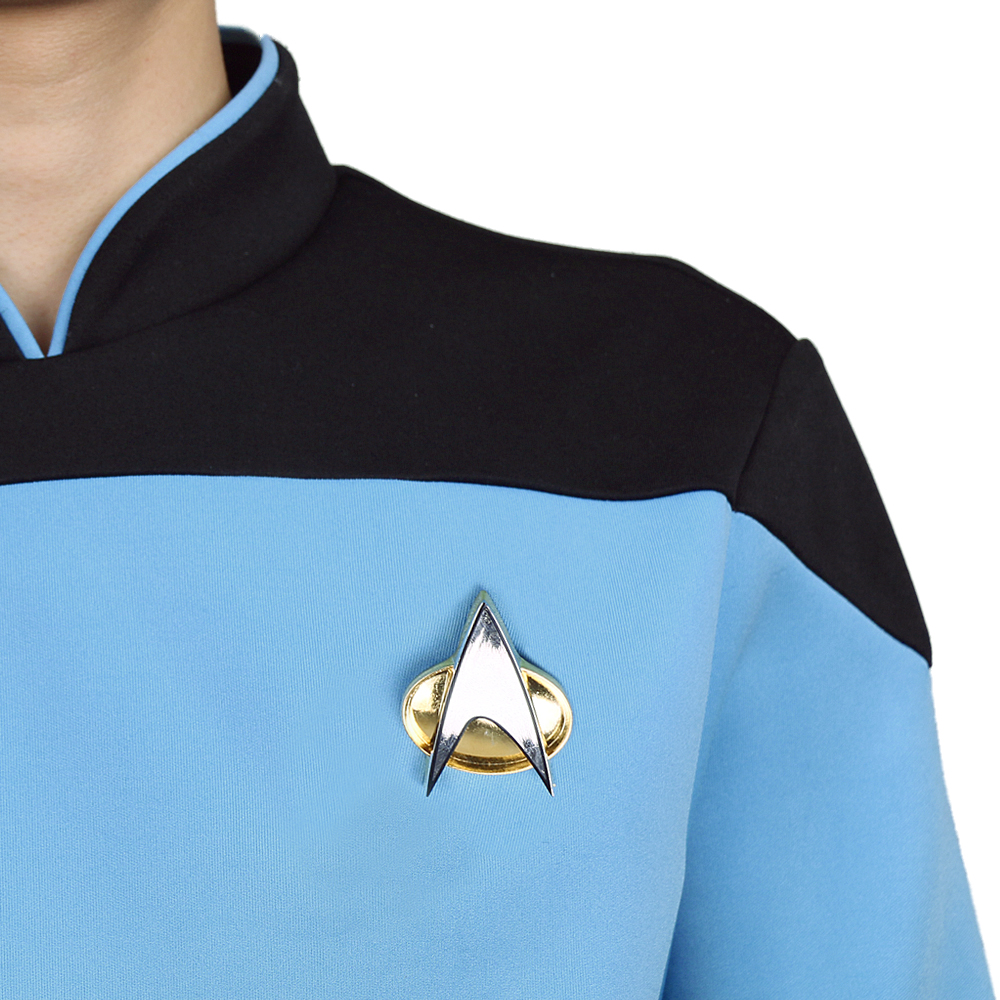 Star Trek TNG The Next Generation Red Yellow Blue Shirt Uniform Cosplay Costume For Men Coat Halloween Party (8)