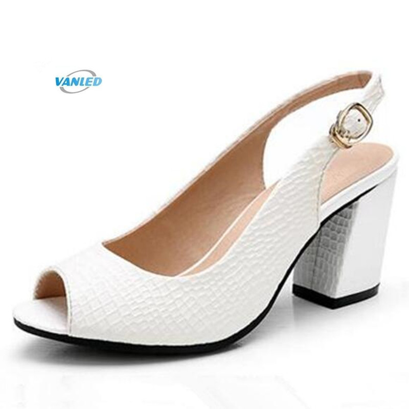 VANLED brand shoes summer genuine leather shoes woman sandals high heels 2018 New fish head summer shoes women sandals plus size women shoes sandals 2018 new arrivals bowtie fashion summer women fish head sandals
