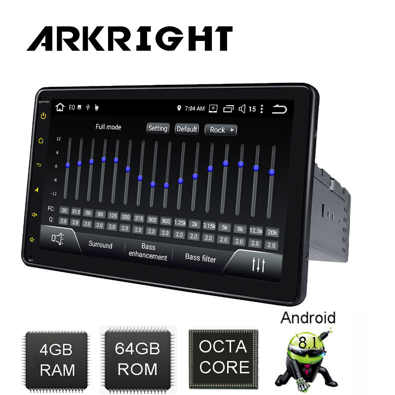 ARKRIGHT 8 1 Din 4 64GB PX5 Android Car Radio Octa Core car Audio Stereo Head