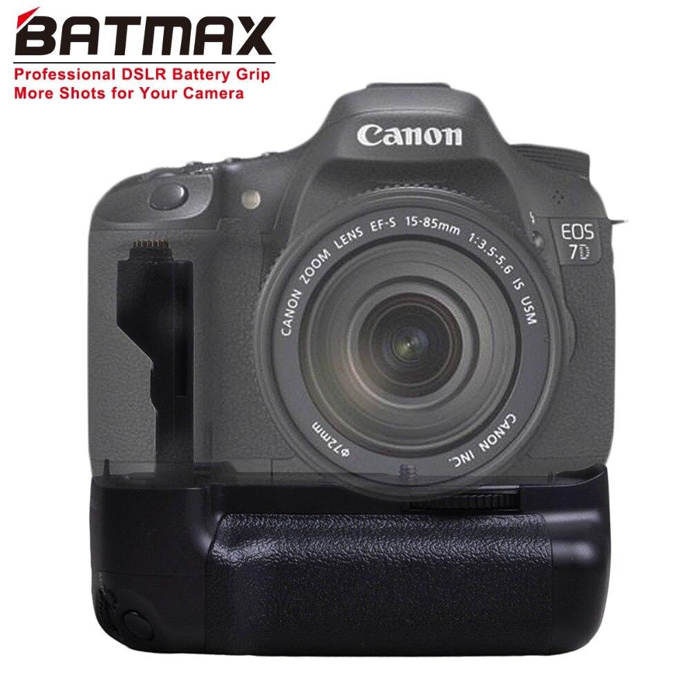 Batmax BG-E7 poignée de batterie pour Canon EOS 7D appareil photo reflex numérique comme BG-E7 poignée de batterie travail avec batterie LP-E6 ou 6X AA