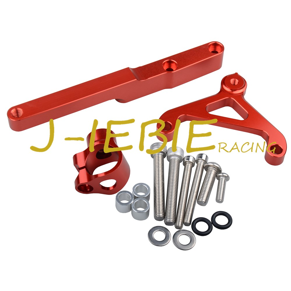 CNC Steering Damper Stabilizer Bracket Mounting For Honda CB1000R CB1000 R 2008-2016 2009 2010 2011 2012 2013 2014 2015 Red