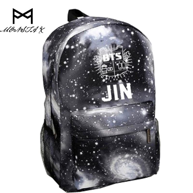 Bag for women 2017 Korean BTS Backpacks For Teenage Girls Star backpack Fashion Kpop Bag Mochila Bts Escolar Feminina jf u printing backpack cute school bag korean style kpop rucksack women bookbags backpacks for teenage girls mochila feminina