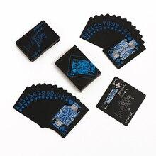 Waterproof Plastic PVC Poker Black Playing Cards Creative Gift Durable 54pcs Deck Poker