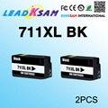 2x Черный чернильный картридж совместимый для hp711 для 711 DesignJet T520 T120 711 711xl принтера