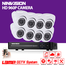 8CH 1080P AHD DVR Kit With 24Pcs Leds 35M IR Night-Vision Mini CCTV 1.3MP Outdoor Dome Camera Home 1080N Security Camera Systems