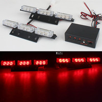 Hot 18 LED Flash Emergency Car Strobe Lights Yellow Automotive Explosive Car Front Grille Strobe Flashing Lamp