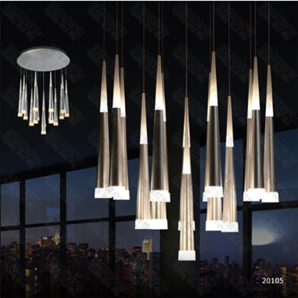 Hot selling modern vibia slim led multi 16 light pendant asparagus ceiling lamp fixture bar lighting