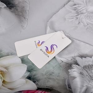 Image 5 - [BYSIFA] Luxury Grey Pink Women Silk Scarf Shawl Fashion Natural Silk Long Scarves New Lotus Design Elegant Satin Neck Scarf