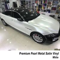 German glue Lightning white Vinyl Wrap Car Body Sticker Wrapping pearl metal white Customized size 5m/10m/20m Multiple color