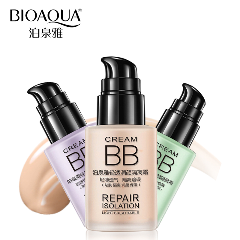 BIOAQUA Brand Liquid Foundation Makeup Face Whitening Moisturizer Lightweight Base Primer Cream Nude Coverage Concealer Cosmetic