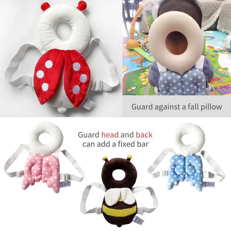 JJ OVCE baby head protection pad / toddler head pillow / baby cute wings drop pad with reinforcement bar jj cole теплый спальный мешок в коляску urban bundle me toddler сливовый