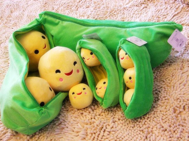 Venda quente 40 cm Ervilhas Girls Generation Bonecos De Pelúcia Travesseiro almofada Brinquedos de pelúcia boneca Super Cute Little Peas Stuffed Boneca Menina presente