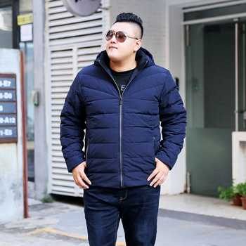 Big size Winter 7XL jacket red loose detachable cap Jacket Mens jacket thick coat tide Big size down jacket 7XL 8XL 9XL 10XL
